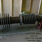 OK, to prove I actually did some work.  Here is the combined HP/IP turbine rotor out of unit one at Hub Power Station.  Built by